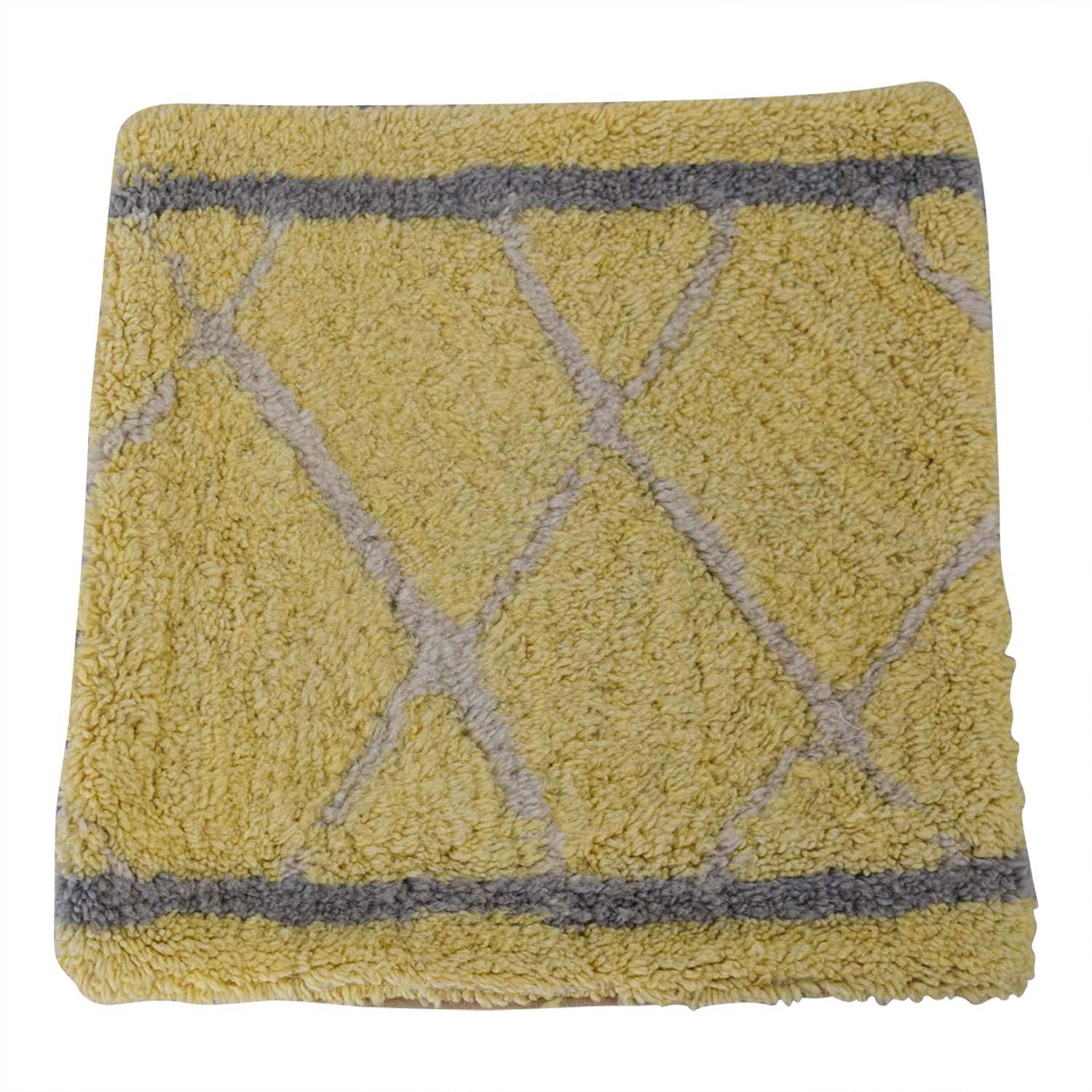 Obeetee Yellow and Grey Entry Rug / Rugs