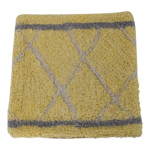 Obeetee Obeetee Yellow and Grey Entry Rug nyc