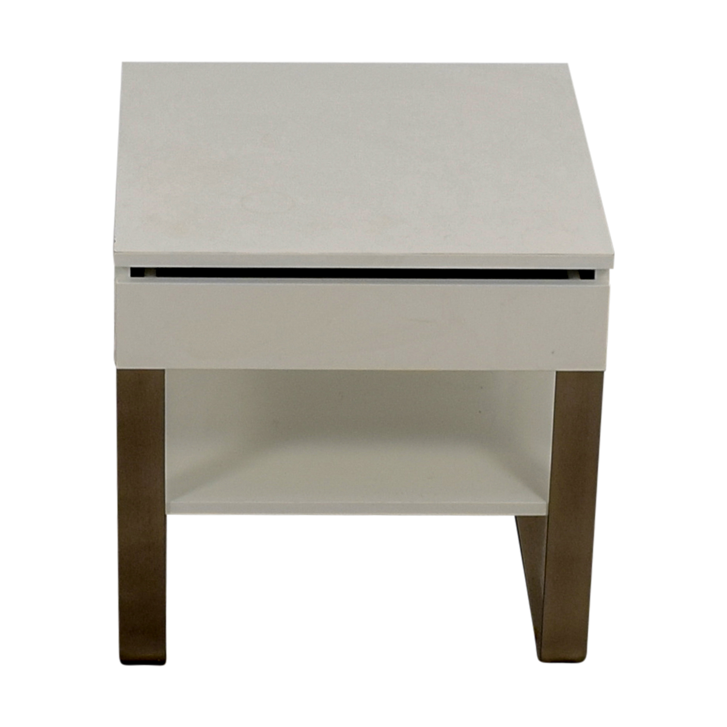 Single Drawer White Nightstand dimensions