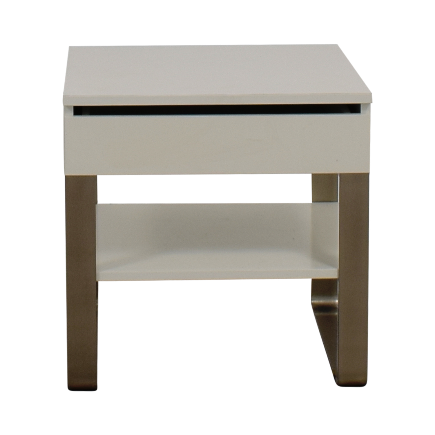 buy Single Drawer White Nightstand  End Tables