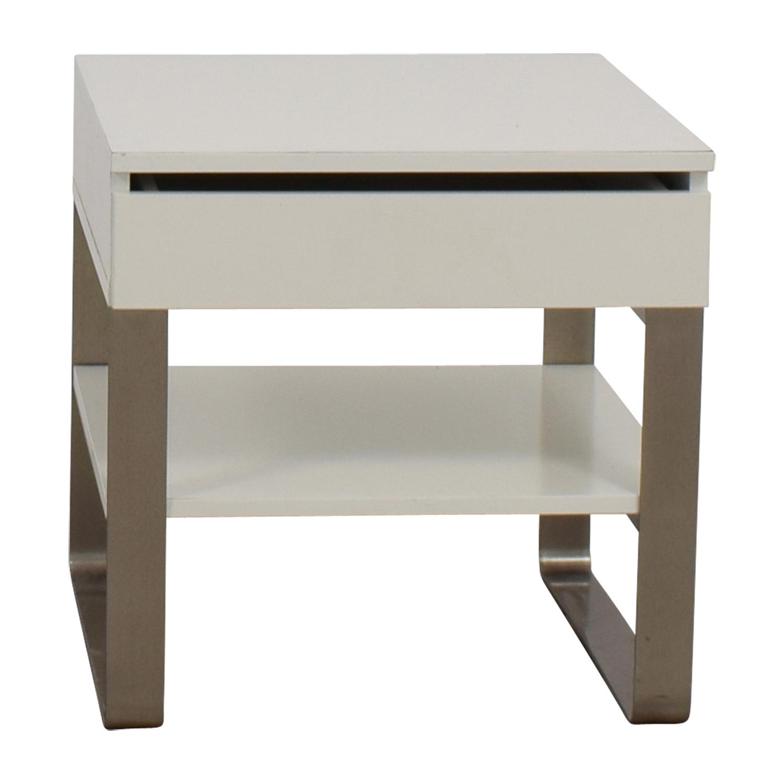 buy Single-Drawer White Nightstand  Sofas