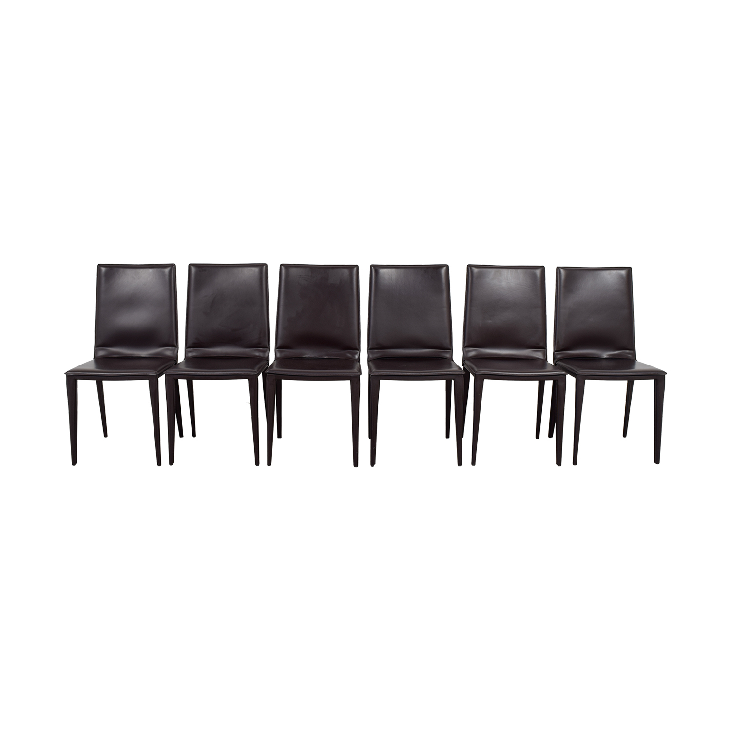 Frag Frag Brown Leather Dining Room Chairs used