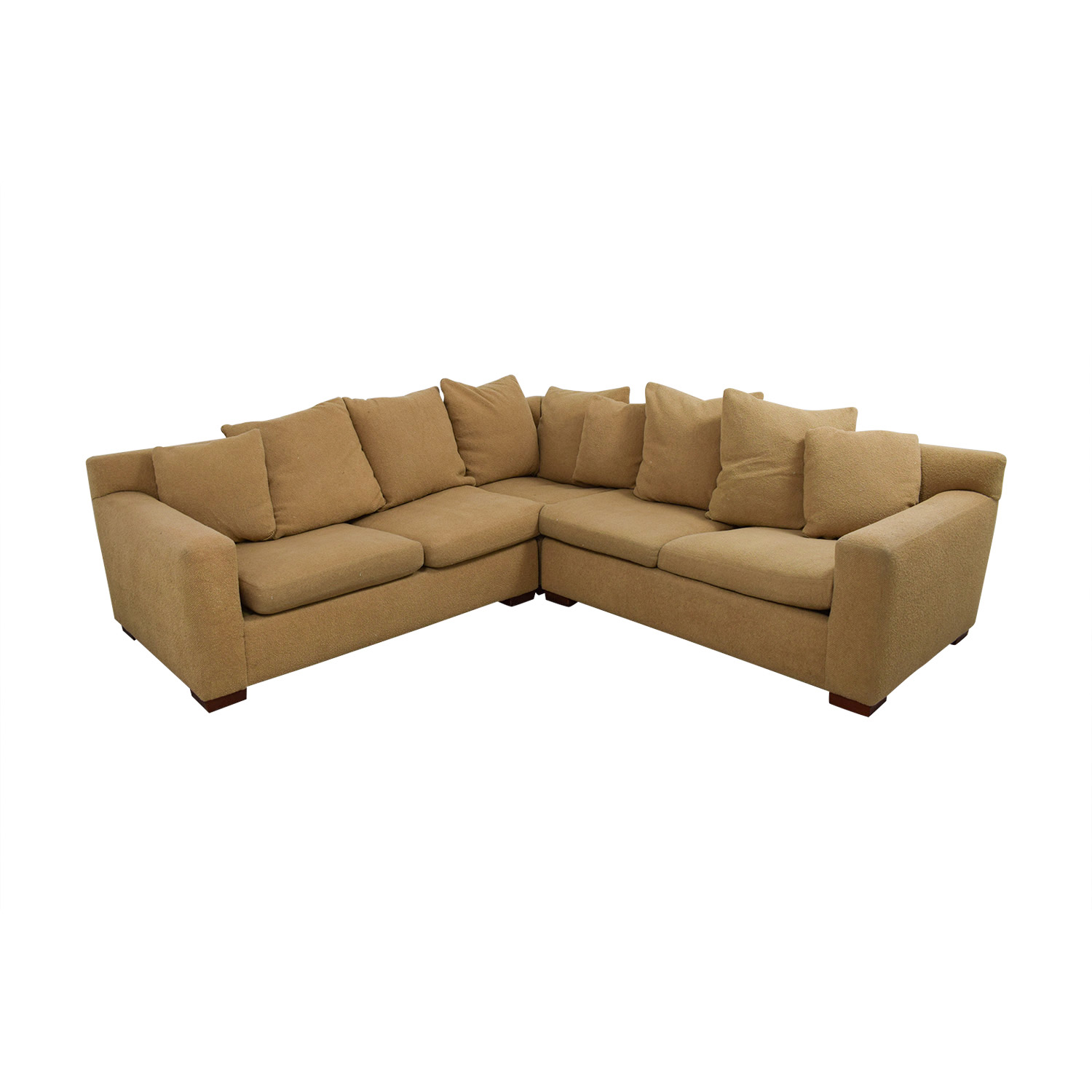 buy Ralph Lauren Down Filled Tan Sectional Ralph Lauren