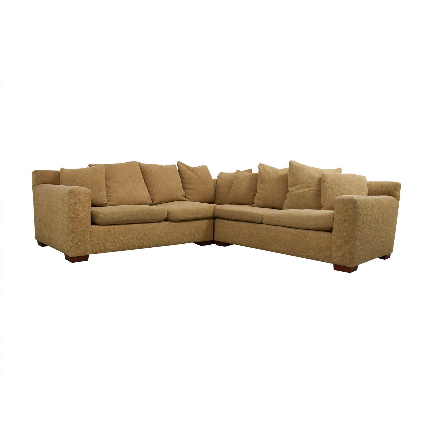 Ralph Lauren Ralph Lauren Down Filled Tan Sectional Sofas