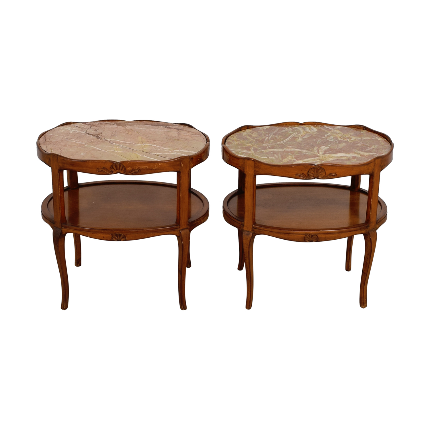 oval side table. Buy Marble Topped Cherry Wood Oval Side Tables Online Table