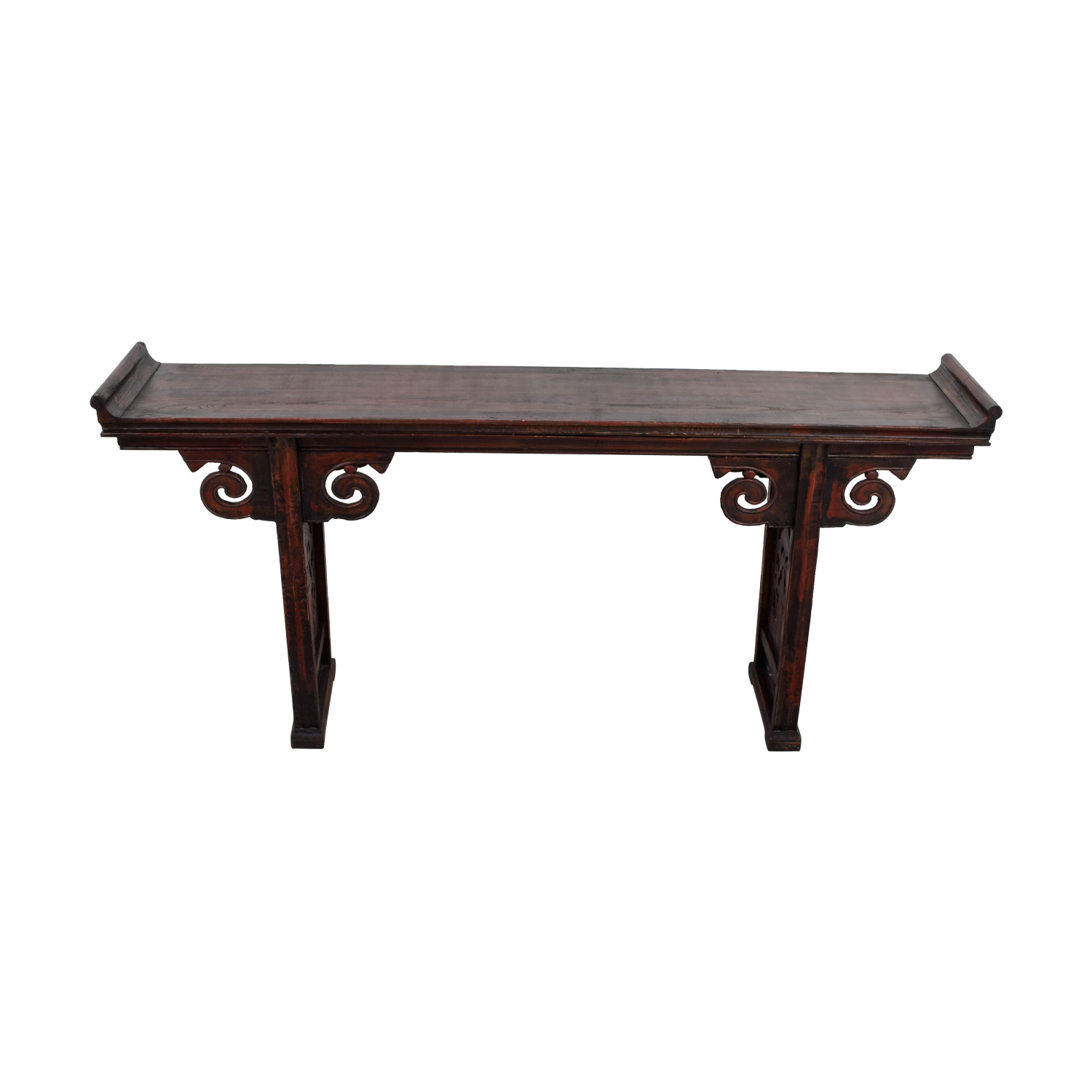 Arhaus Arhaus Carved Wood Altar Table dimensions