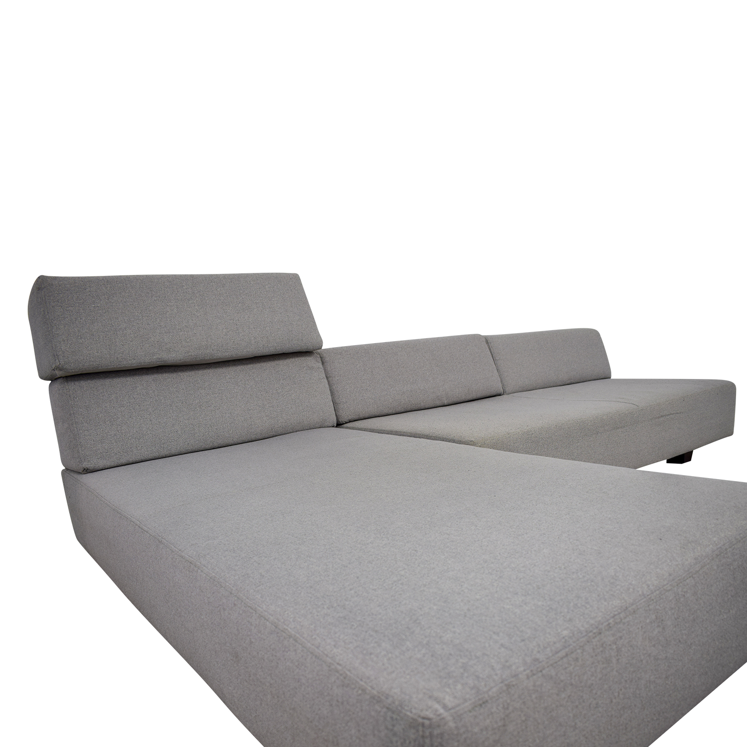 ... West Elm West Elm Tillary Chenille Tweed Feather Gray Modular Seating  Sofa Coupon ...