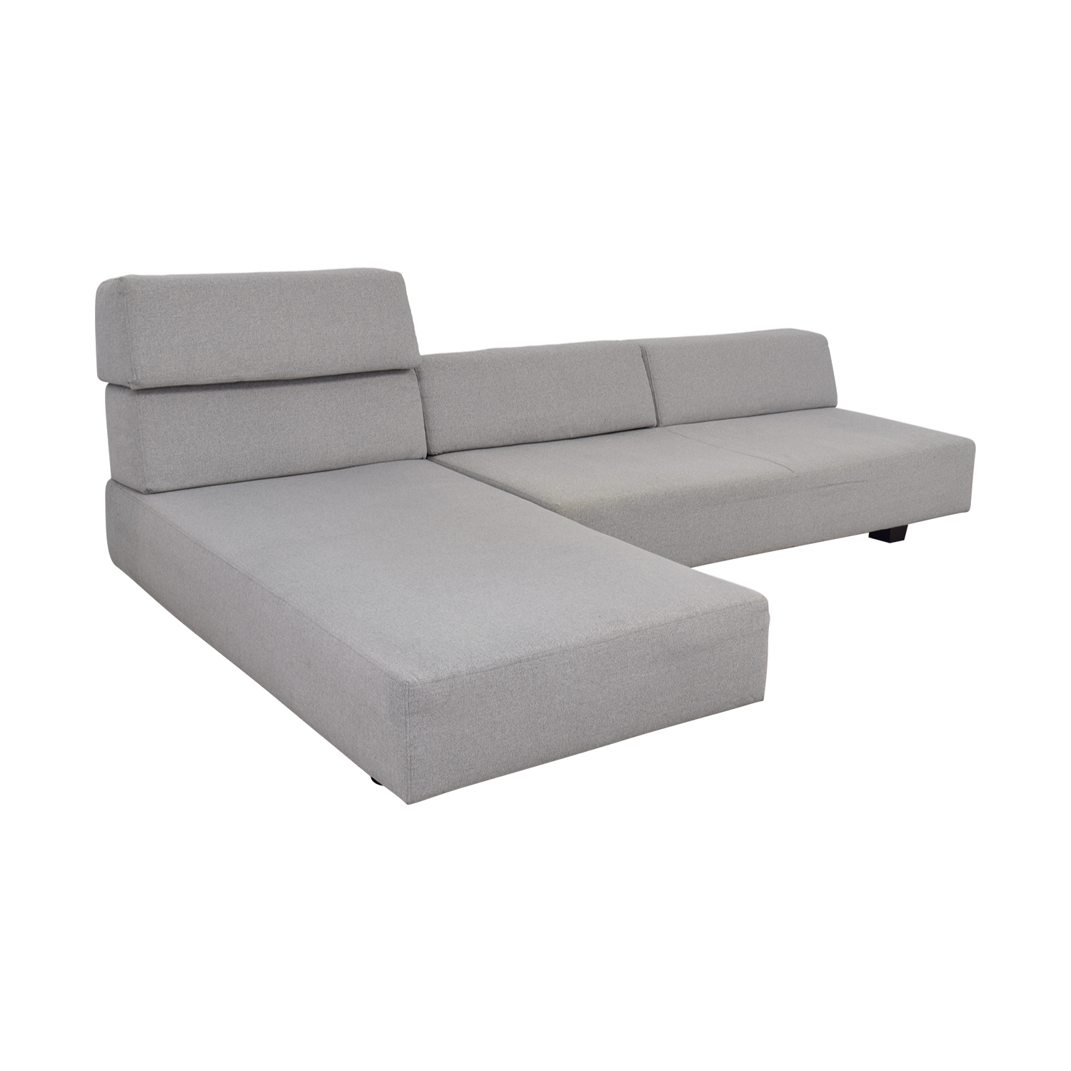 ... West Elm West Elm Tillary Chenille Tweed Feather Gray Modular Seating  Sofa Sectionals ...