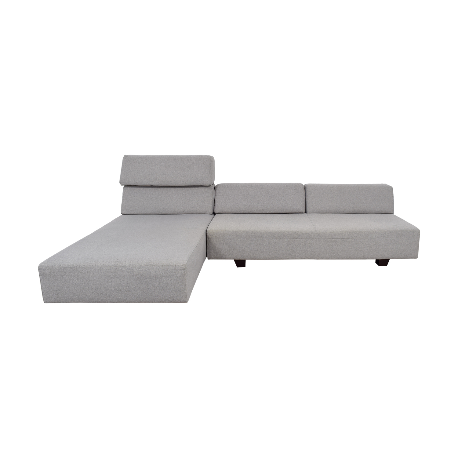 West Elm West Elm Tillary Chenille Tweed Feather Gray Modular Seating Sofa  Second Hand ...