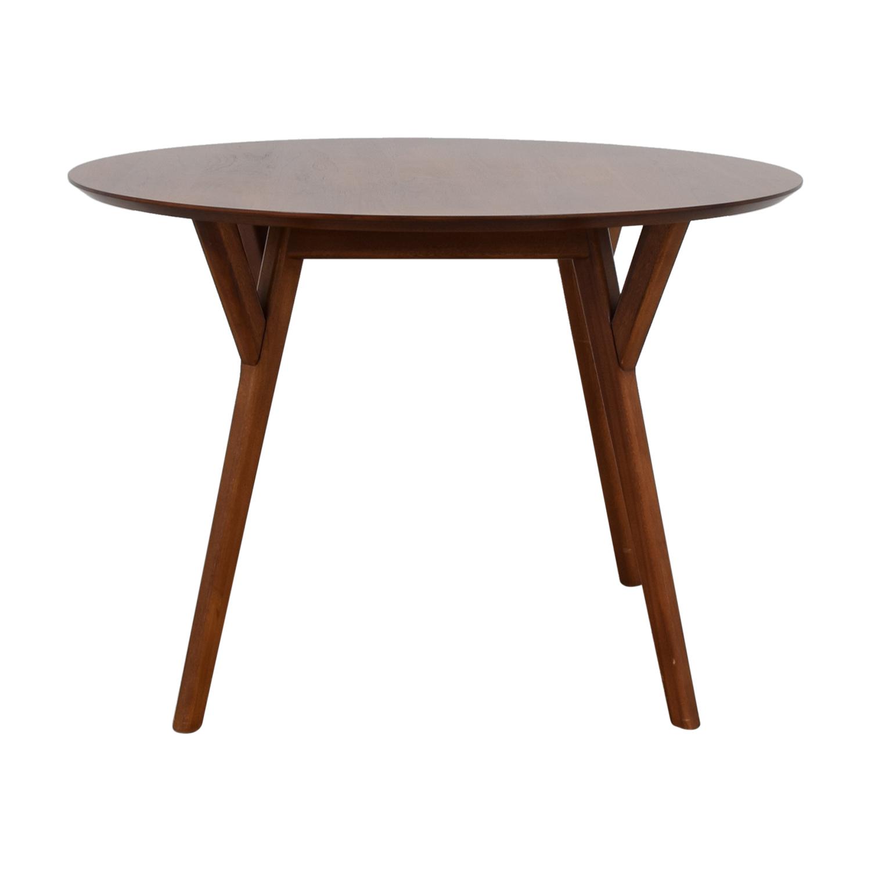 West Elm West Elm Mid-Century Walnut Round Dining Table nj