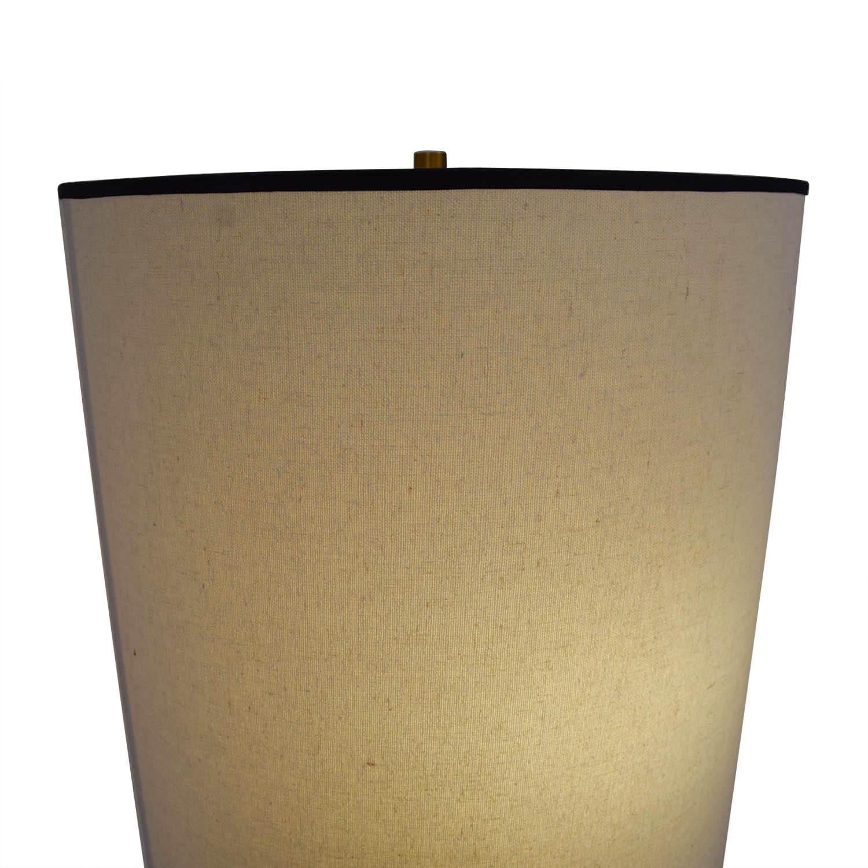 West Elm West Elm + Rejuvenation Cylinder Antique Brass and Linen Floor Lamp price