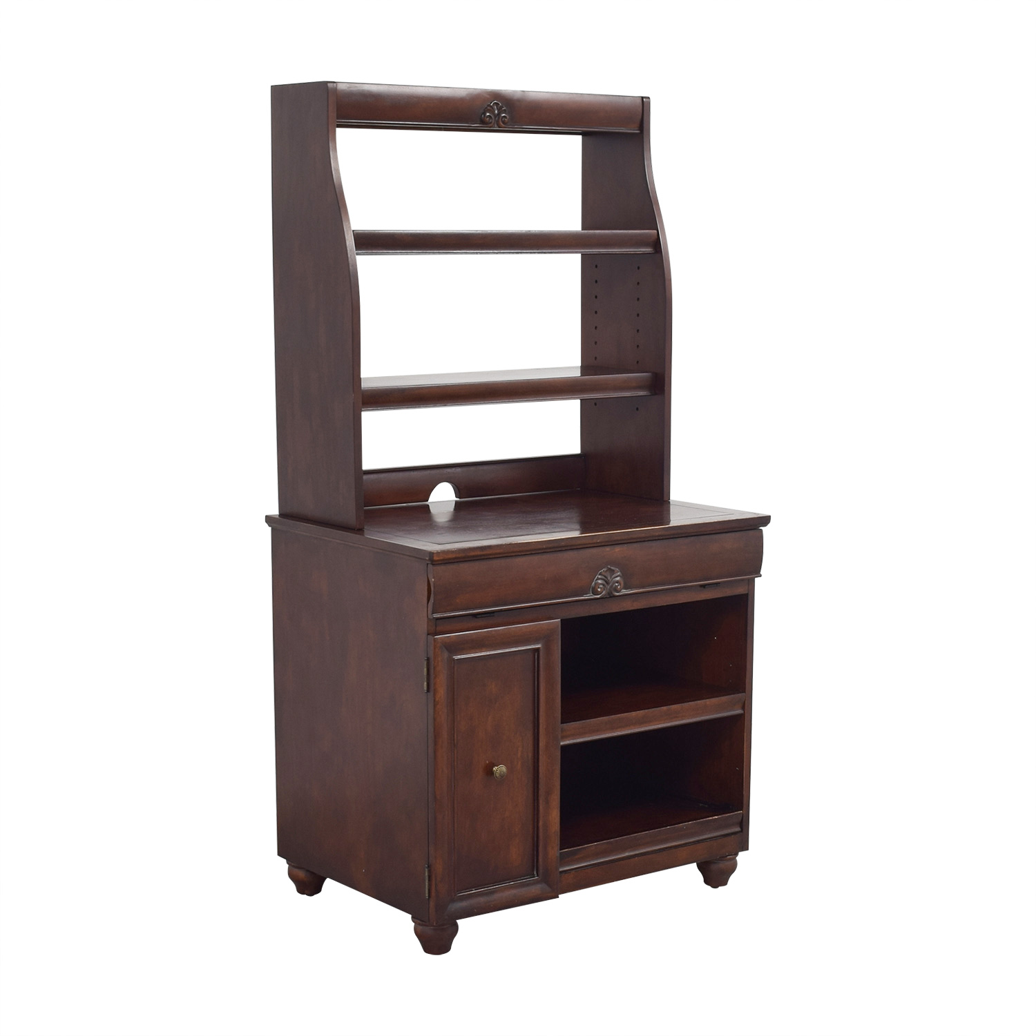 Buy Pier 1 Imports Wood Computer Desk With Hutch