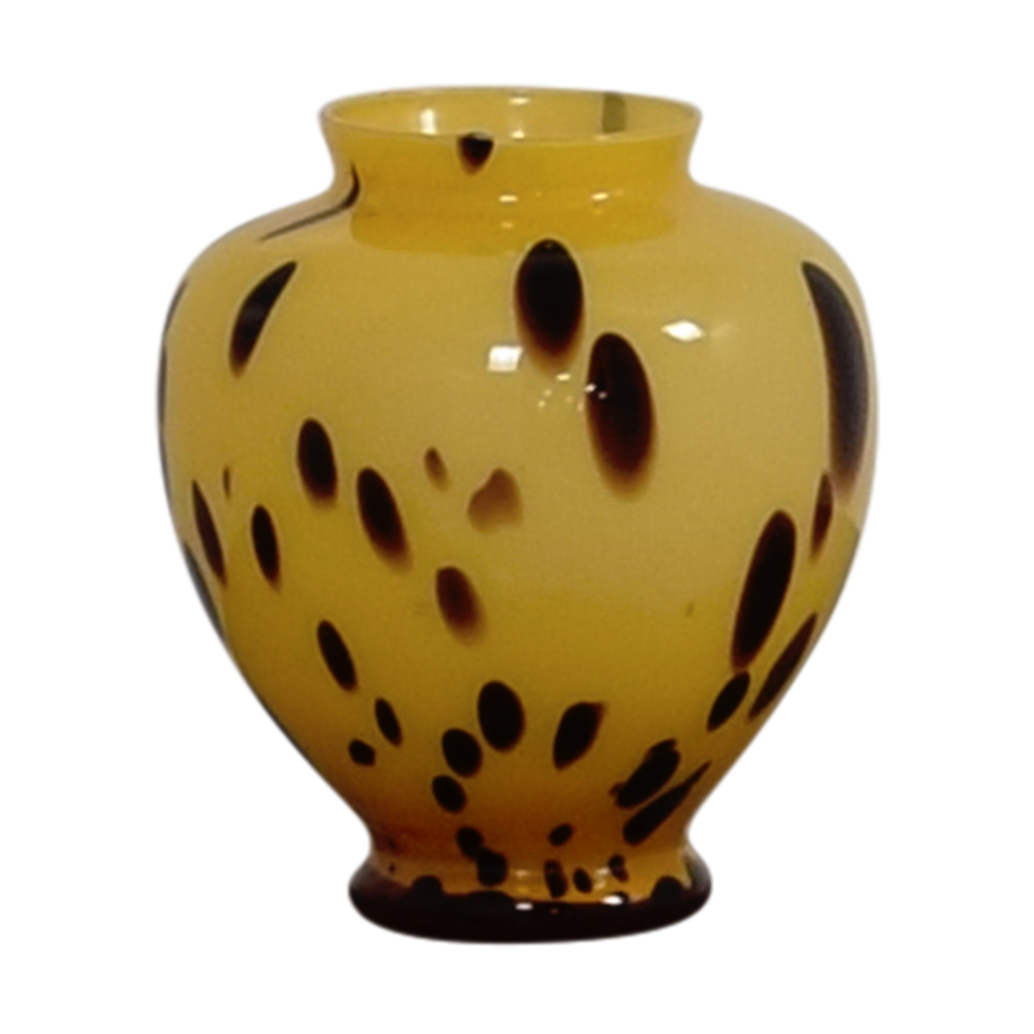shop Beige and Gold with Brown Spots Vase Decor