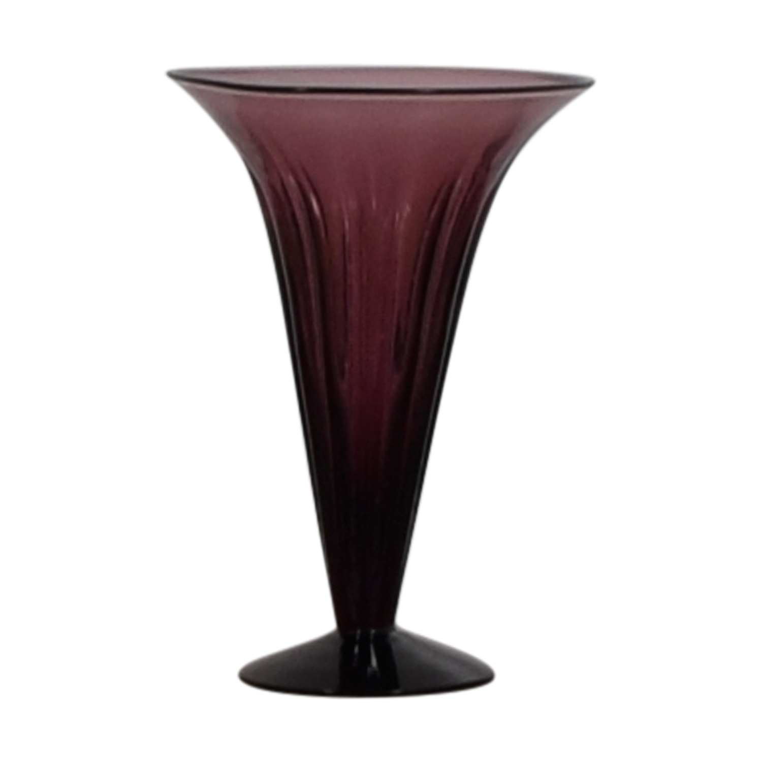 Purple Fluted Vase used