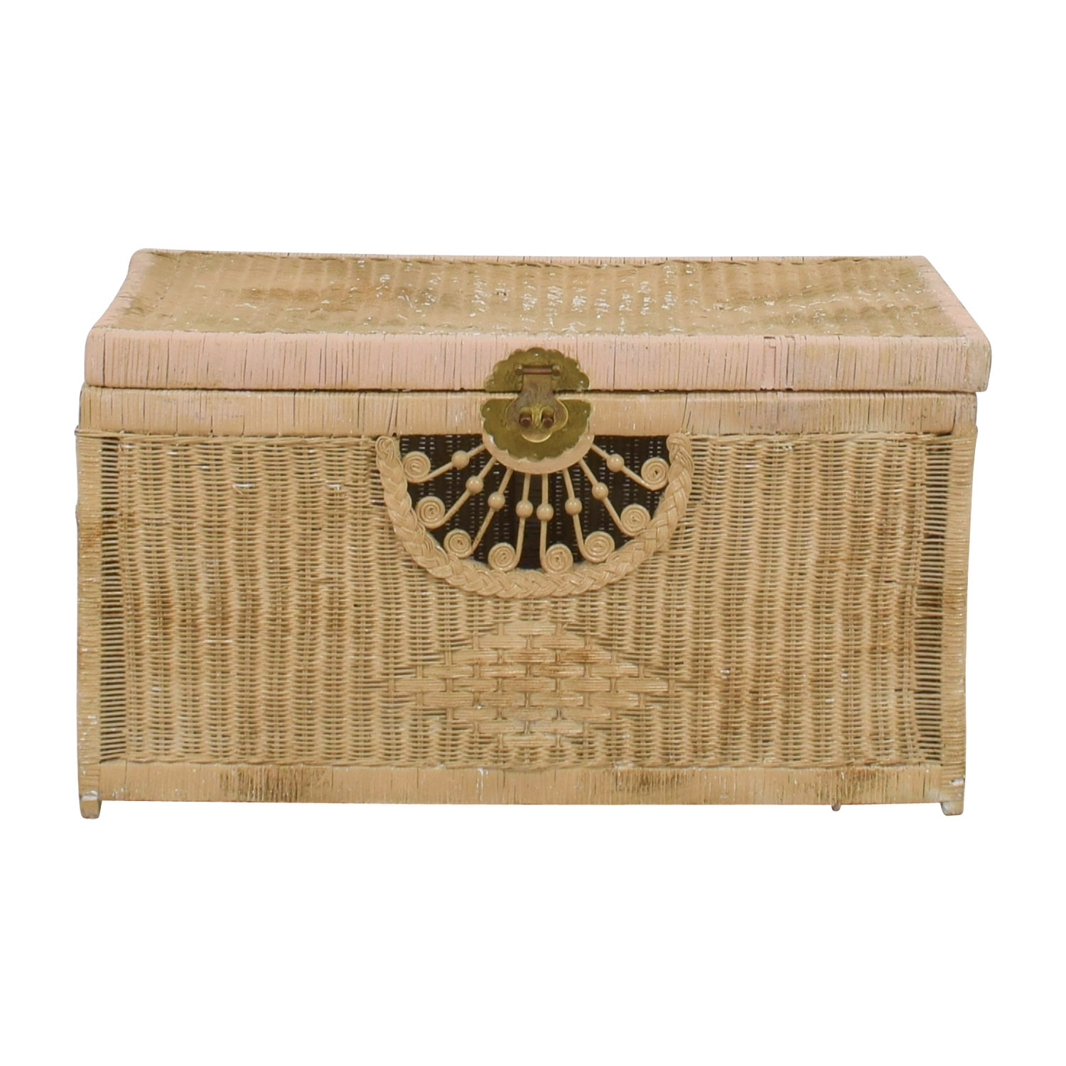 shop Pier 1 Imports Natural Wicker Trunk Pier 1 Imports