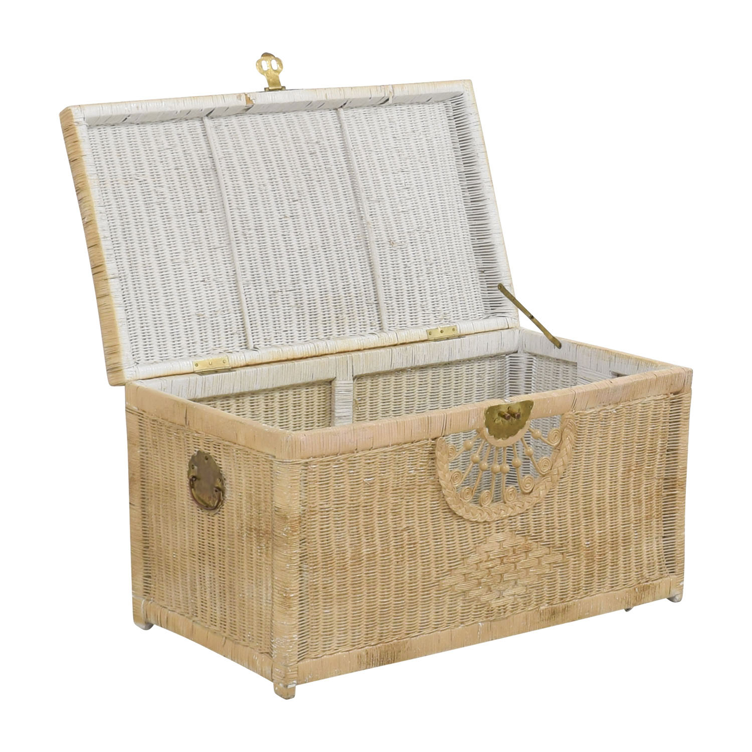 Pier 1 Imports Pier 1 Imports Natural Wicker Trunk for sale