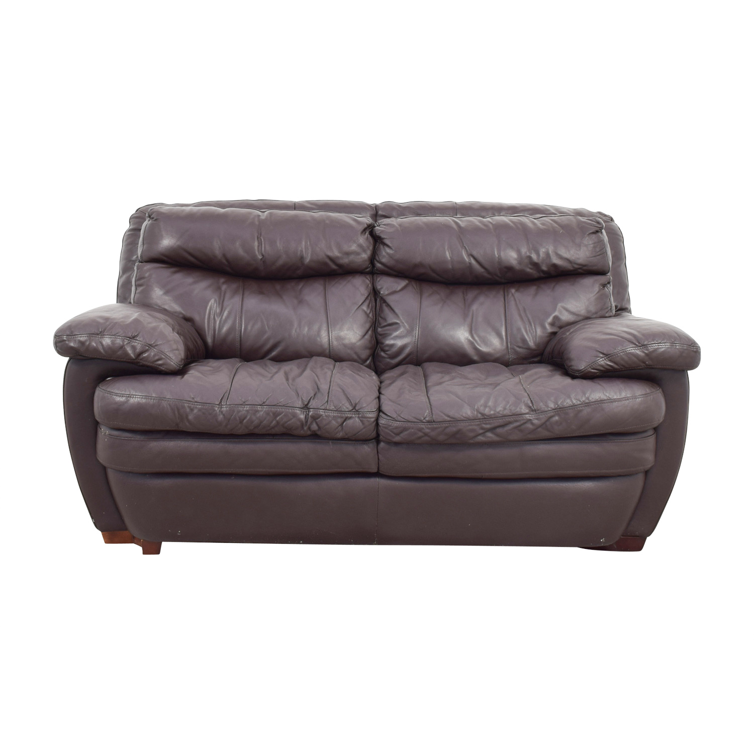 buy Bobs Furniture Brown Leather Loveseat Bobs Furniture Loveseats