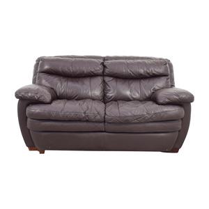 Bob's Furniture Bob's Furniture Brown Leather Loveseat dimensions