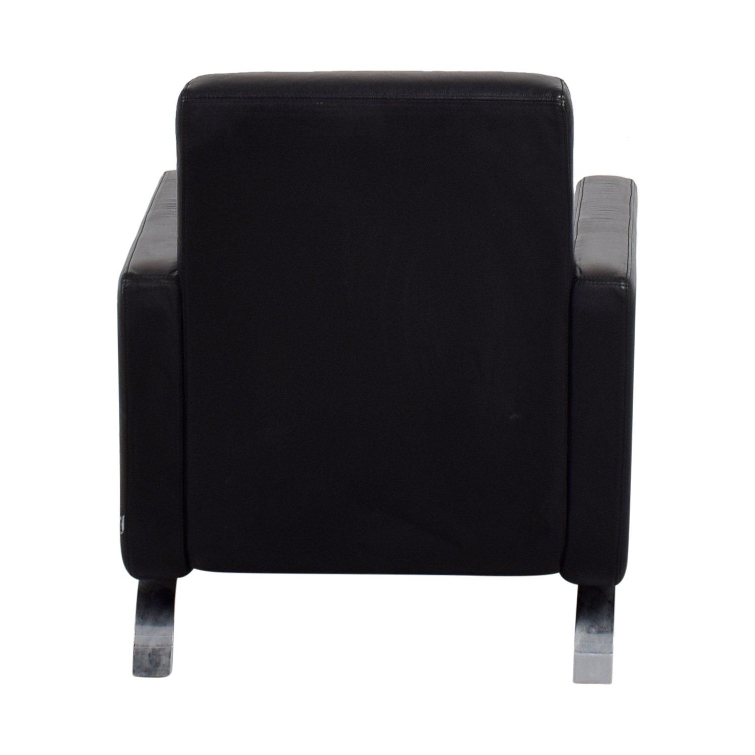 buy BoConcept Black Leather Fly Chair BoConcept Chairs