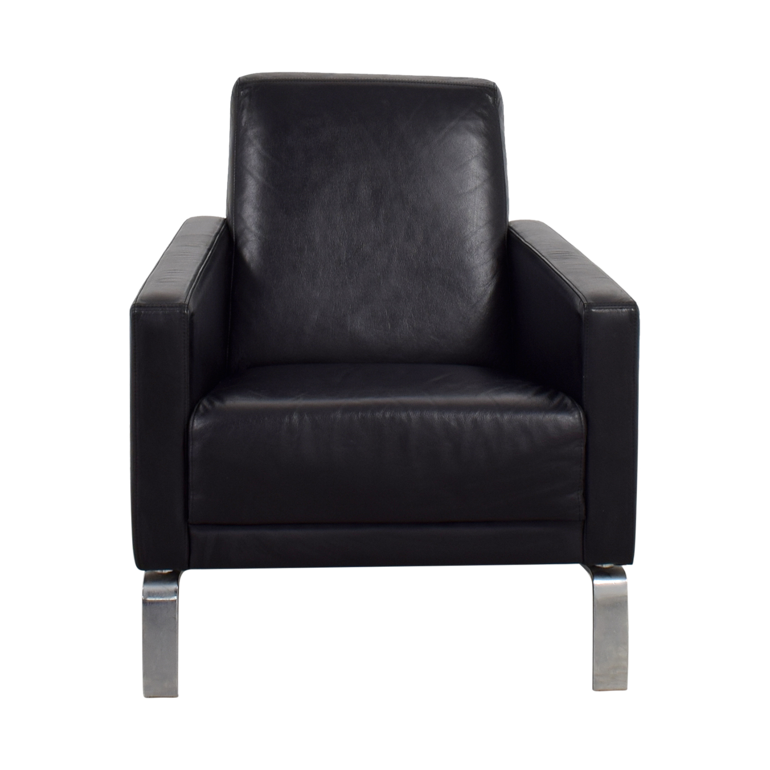 buy BoConcept Black Leather Fly Chair BoConcept Accent Chairs