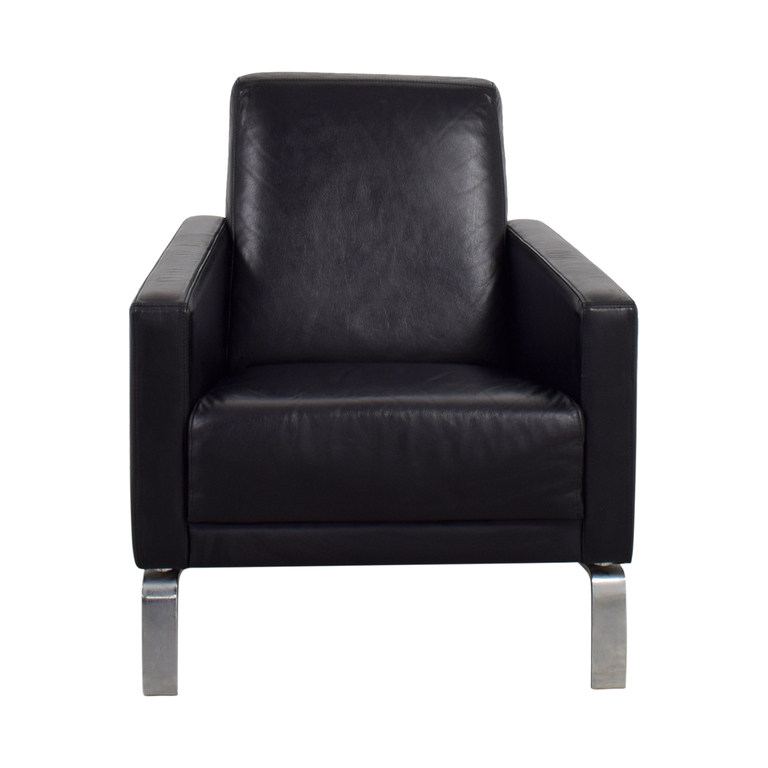 BoConcept BoConcept Black Leather Fly Chair nj