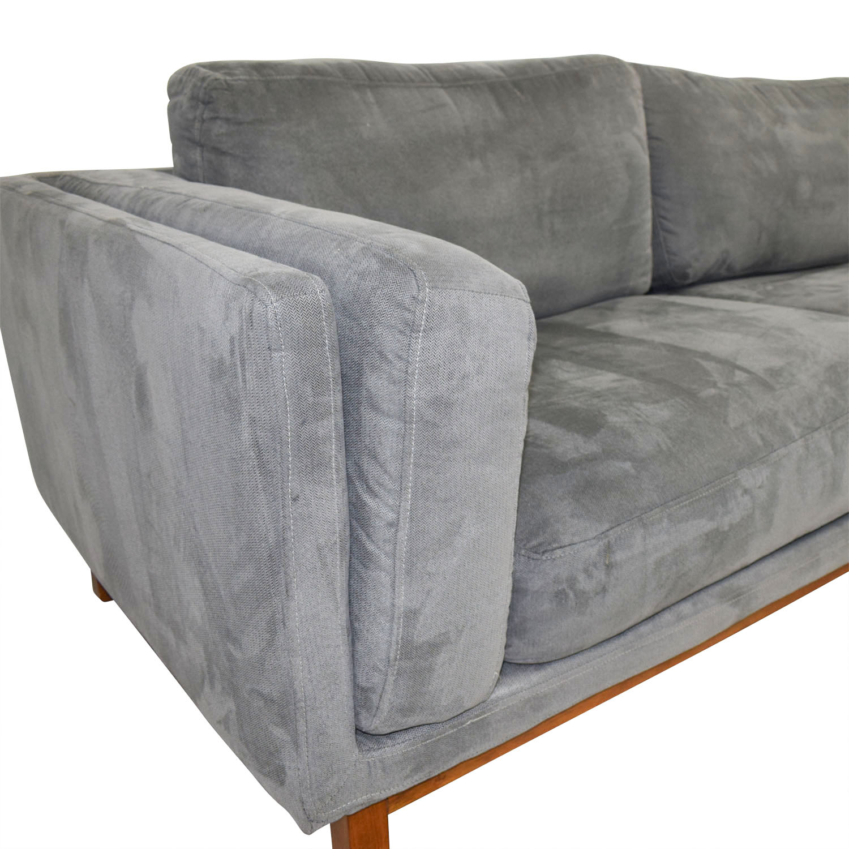 shop West Elm West Elm Everett Dark Grey Microsuede Couch online