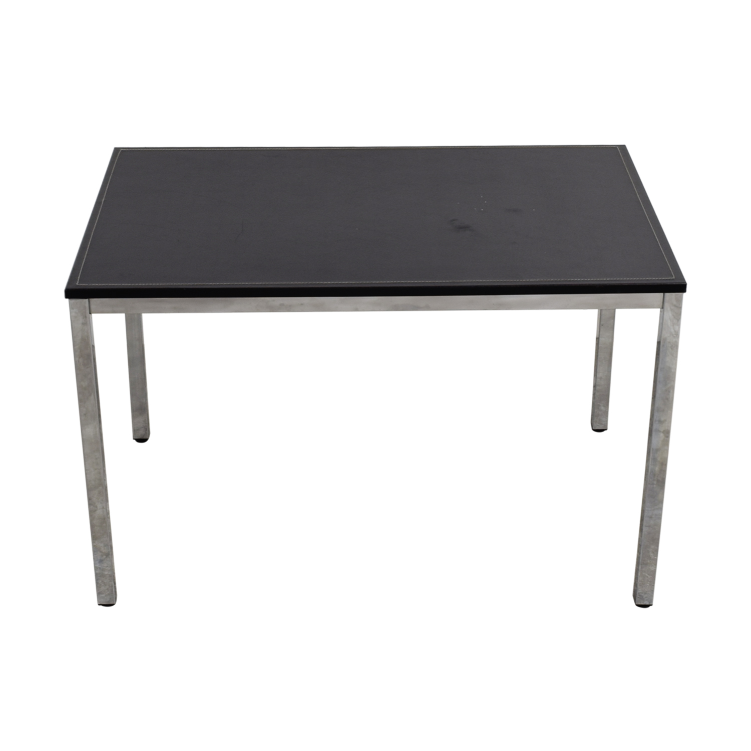 Black Leather Top Writing Desk dimensions