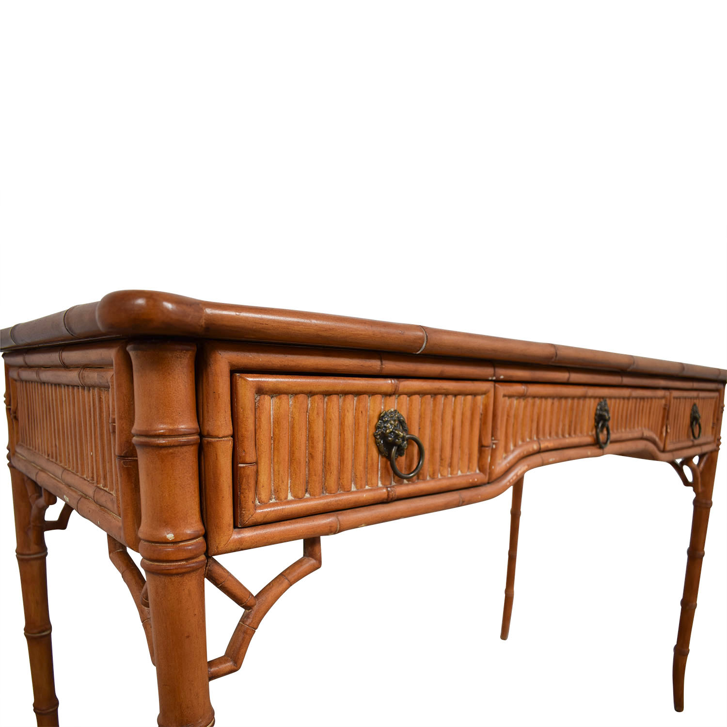 Kemble Interiors Kemble Interiors Leather Top Bamboo Desk nyc