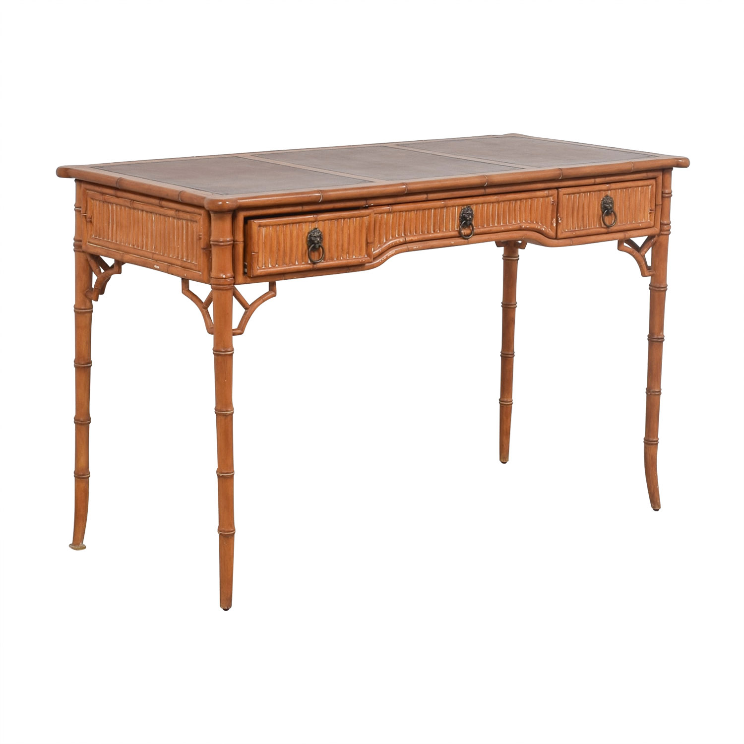 buy Kemble Interiors Leather Top Bamboo Desk Kemble Interiors Home Office Desks