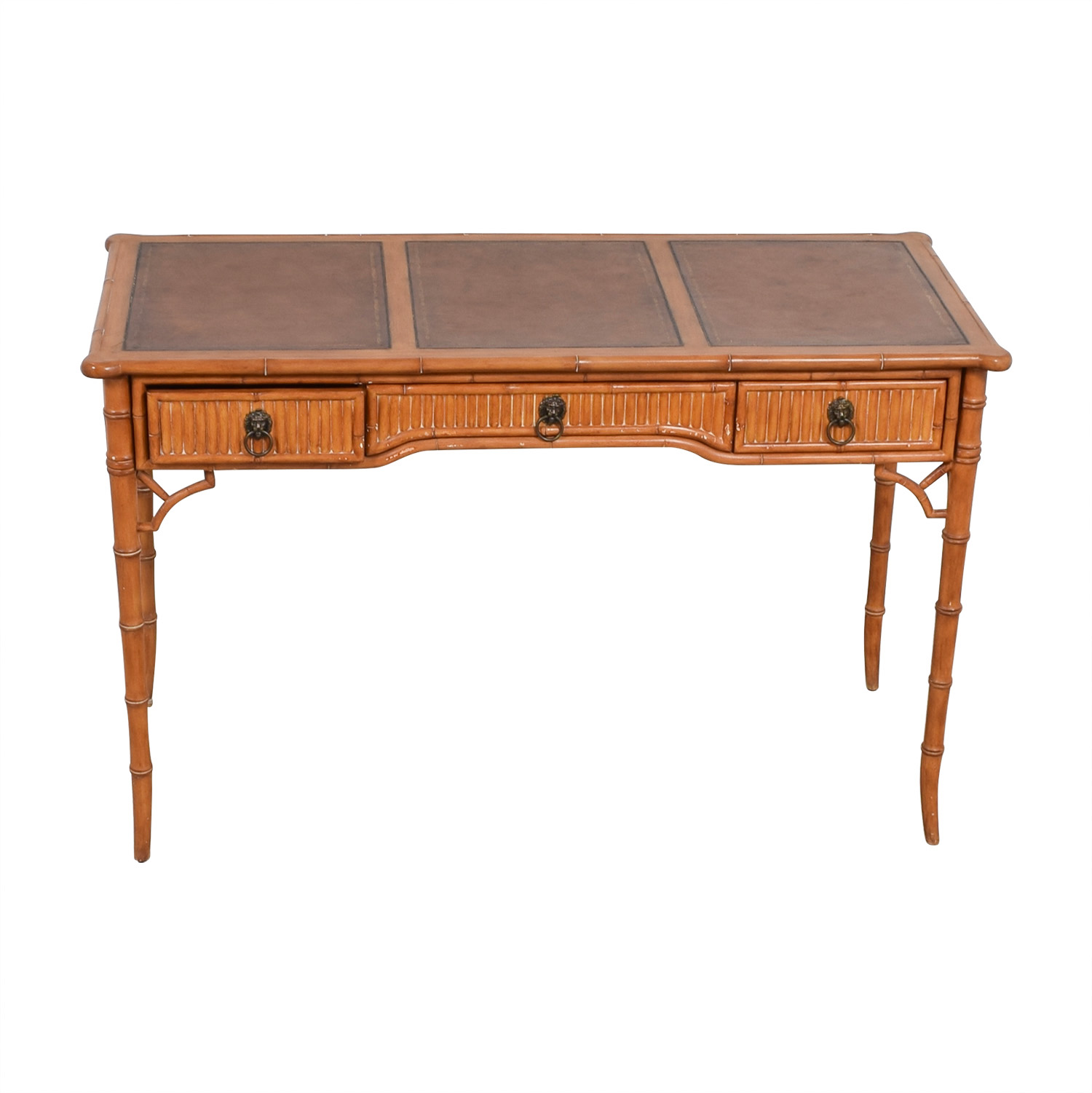 buy Kemble Interiors Leather Top Bamboo Desk Kemble Interiors