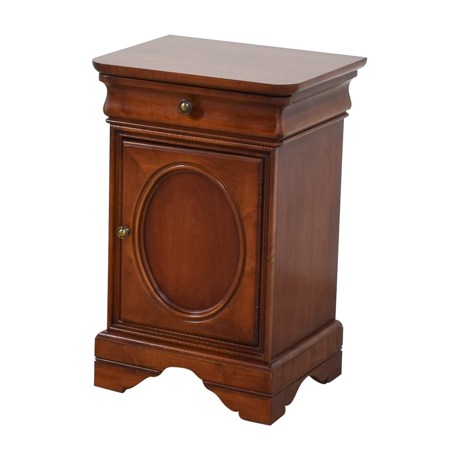 Antique Wood Single Drawer End Table nyc