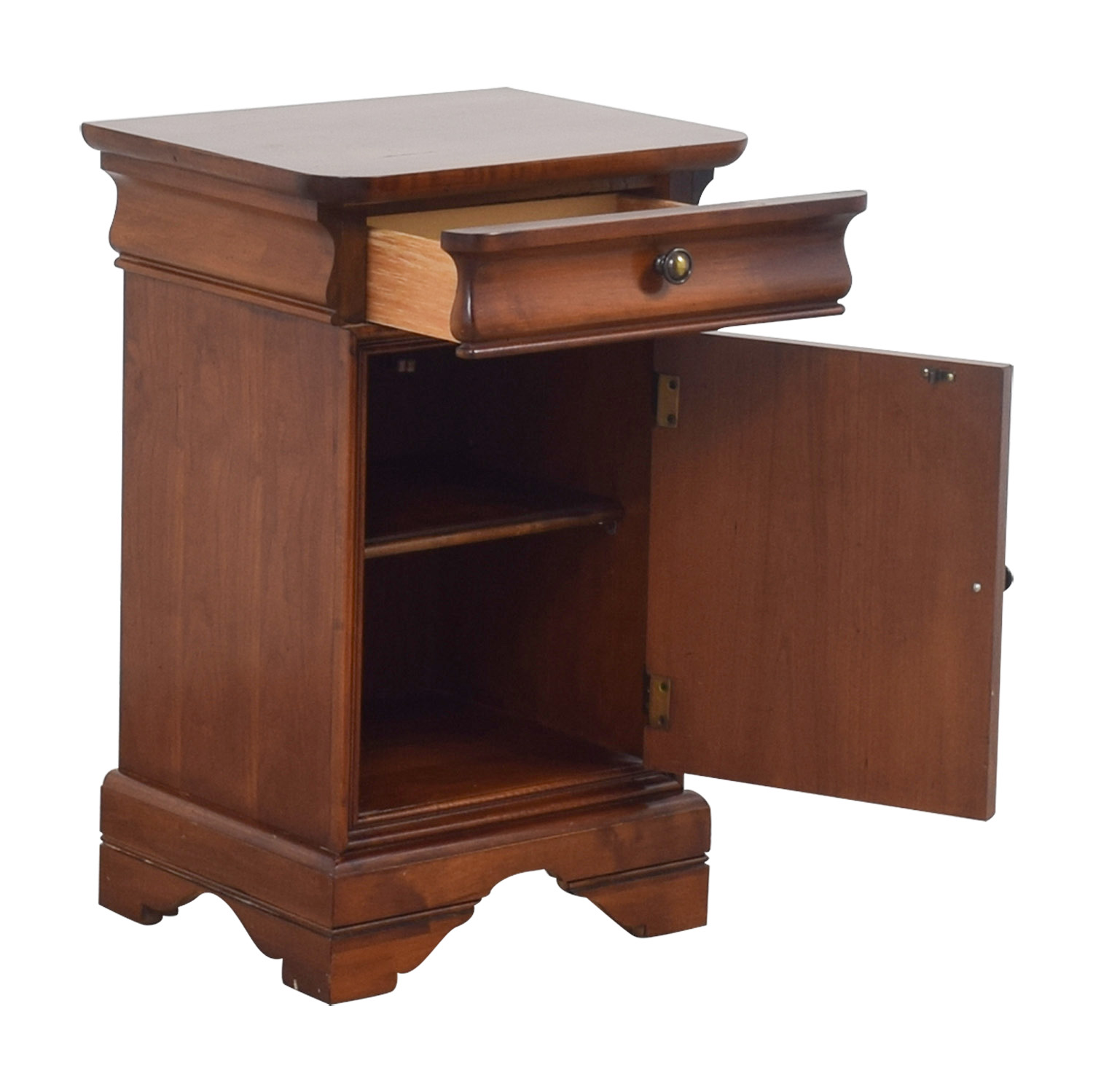 Antique Wood Single Drawer End Table