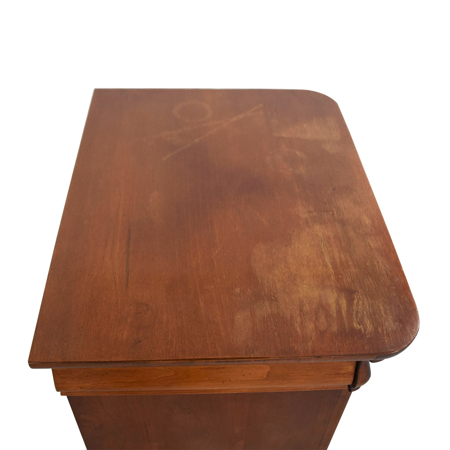 Antique Wood Single Drawer End Table for sale