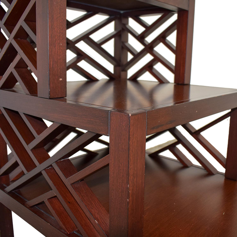 shop Multi Level Wood Trellis End Table  Tables