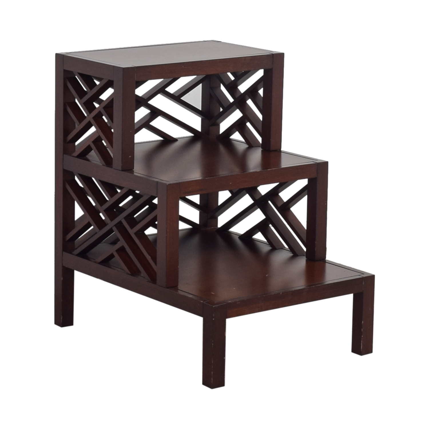 Multi Level Wood Trellis End Table dimensions