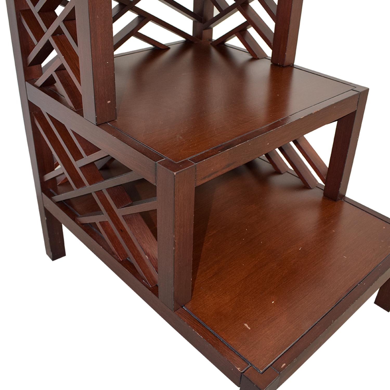 Multi Level Wood Trellis End Table Tables