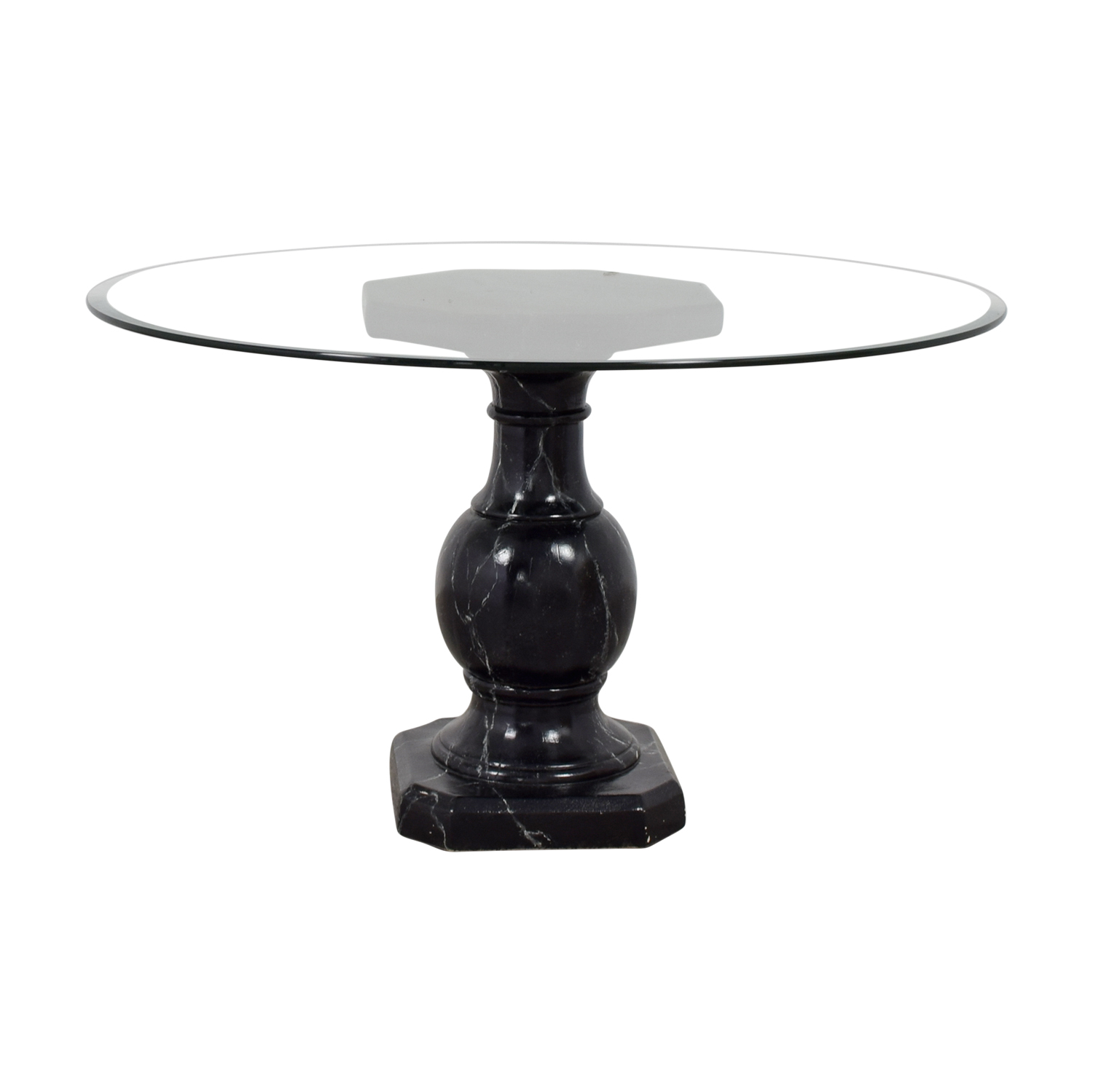 Ballard Designs Ballard Designs Dining Table with Glass Top discount
