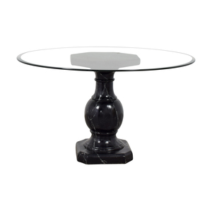 Ballard Designs Dining Table with Glass Top sale