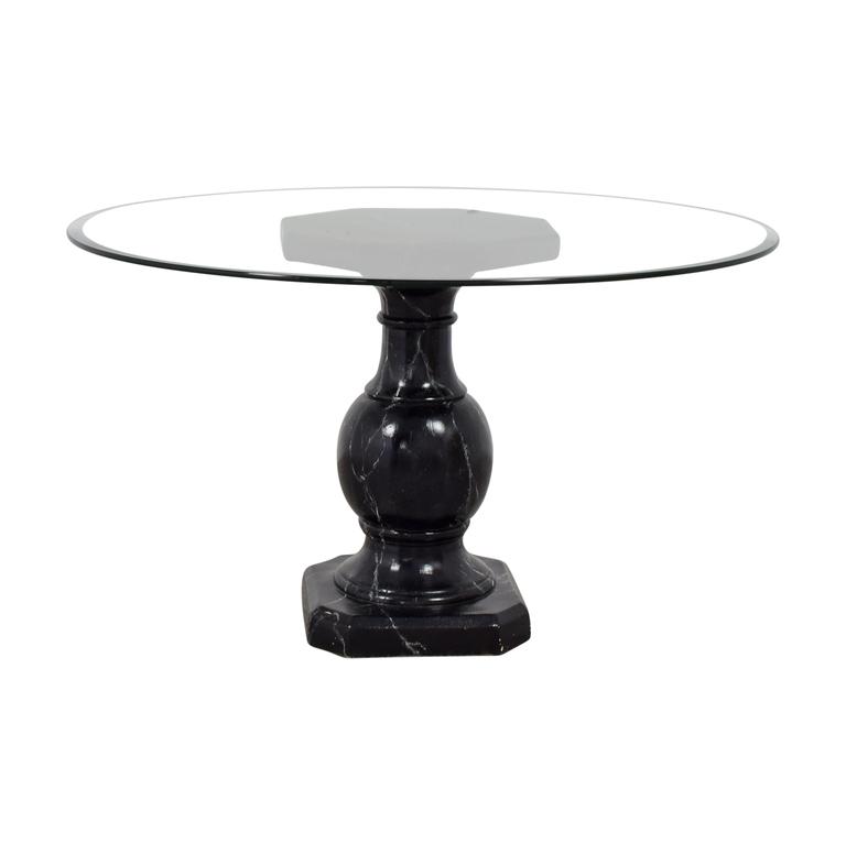 Ballard Designs Ballard Designs Dining Table with Glass Top dimensions