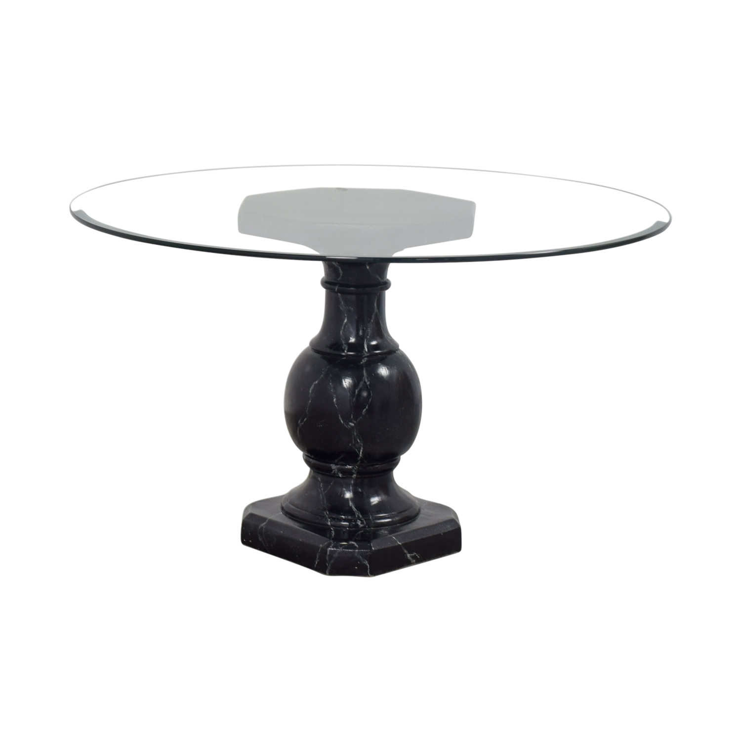 71 Off Ballard Designs Dining Table With Glass Top Tables