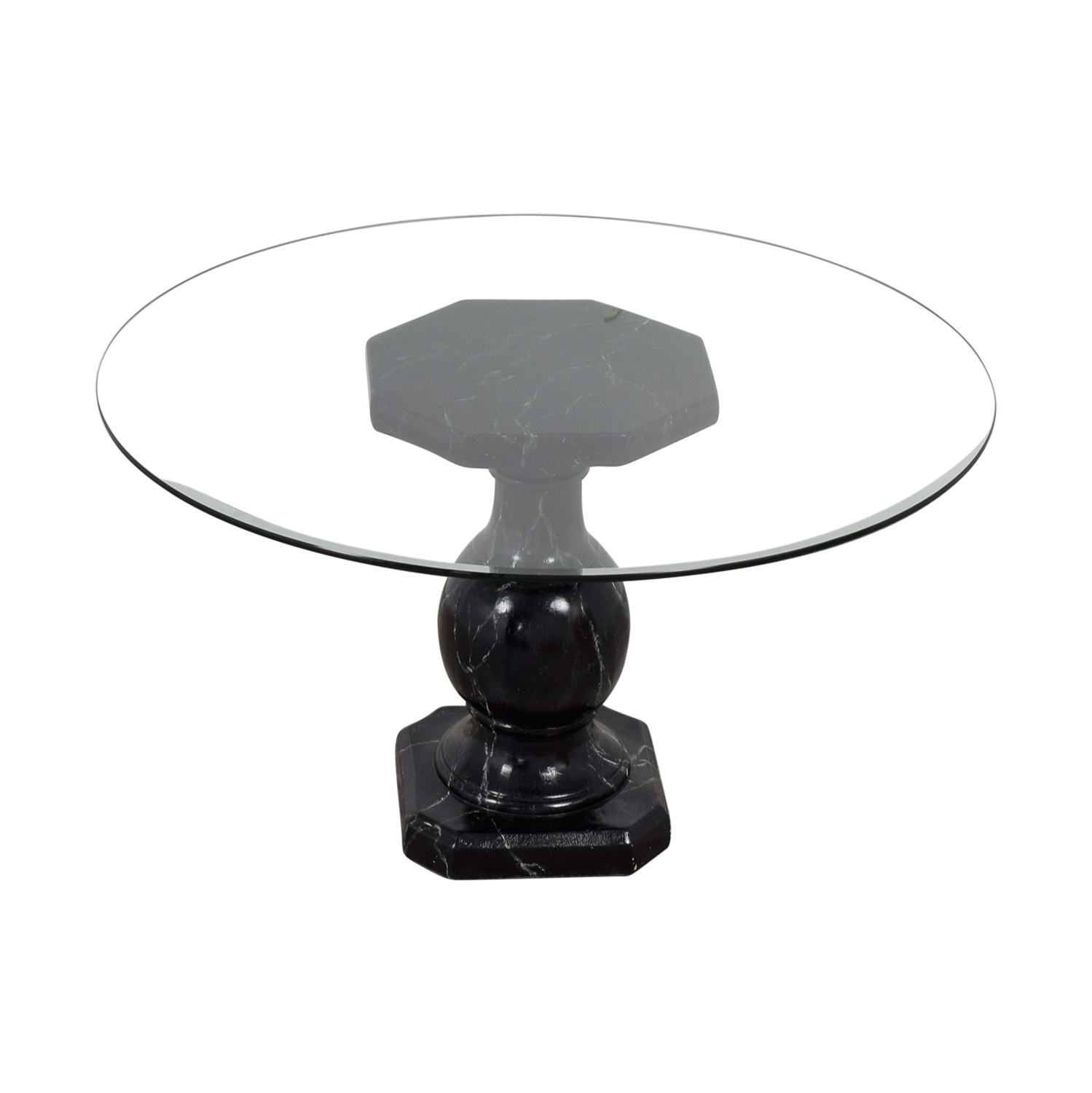 Ballard Designs Dining Table with Glass Top Ballard Designs