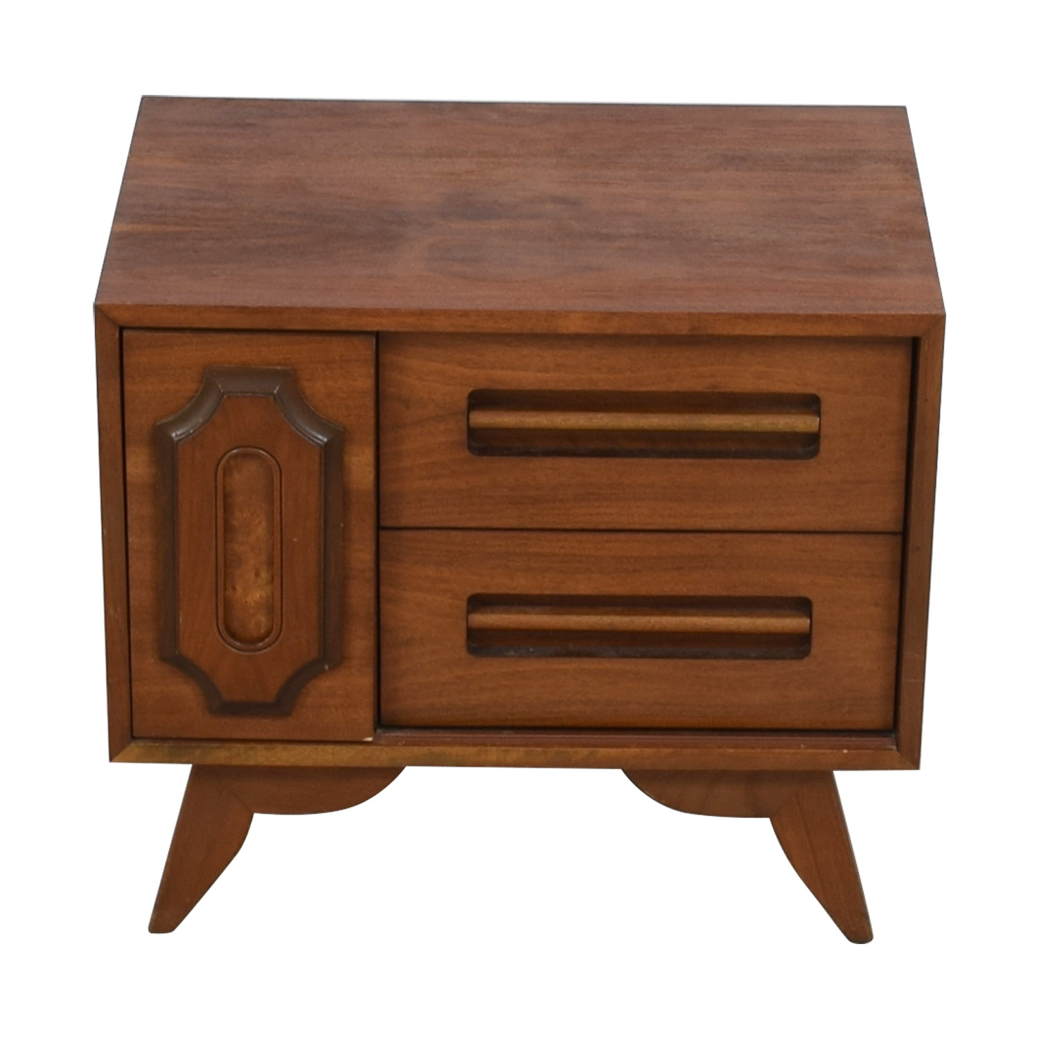 Two-Drawer Side Table used