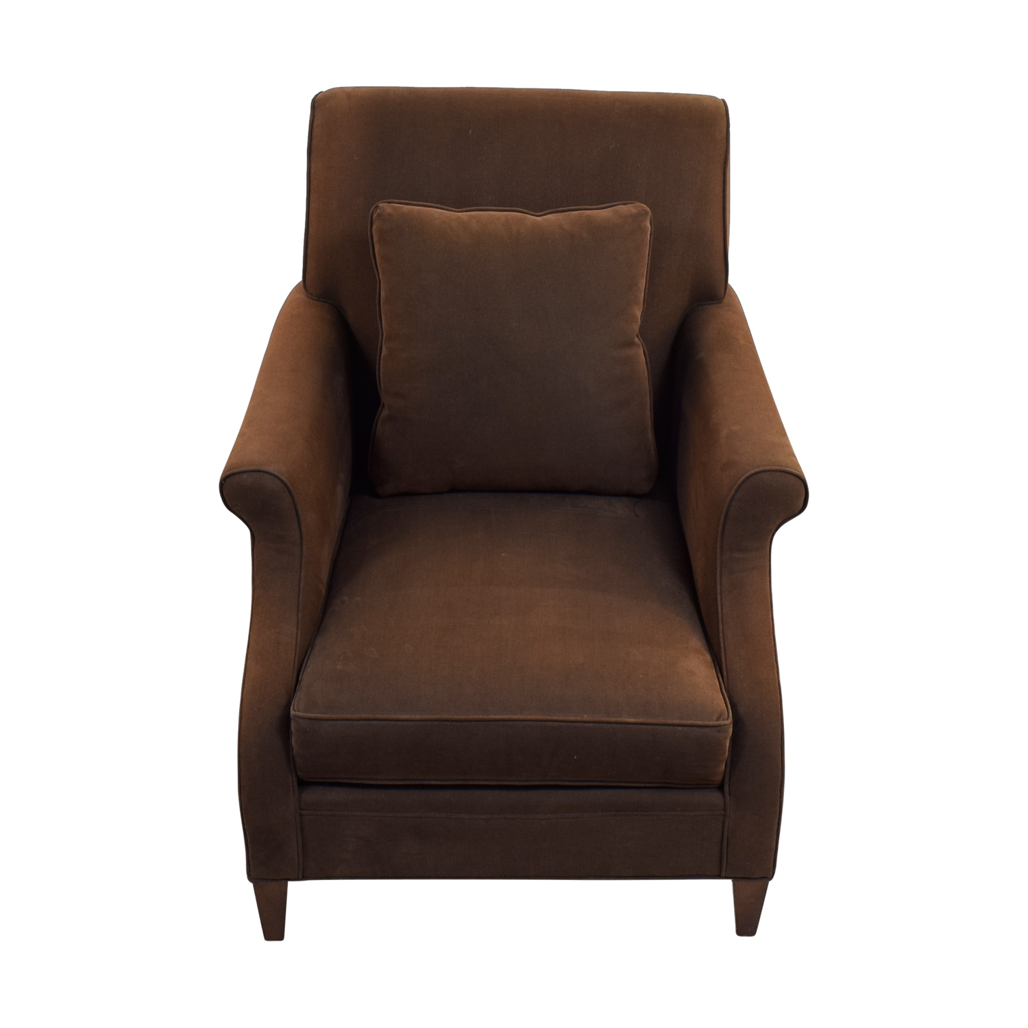 Mitchell Gold + Bob Williams Deep Seated Brown Armchair Mitchell Gold + Bob Williams