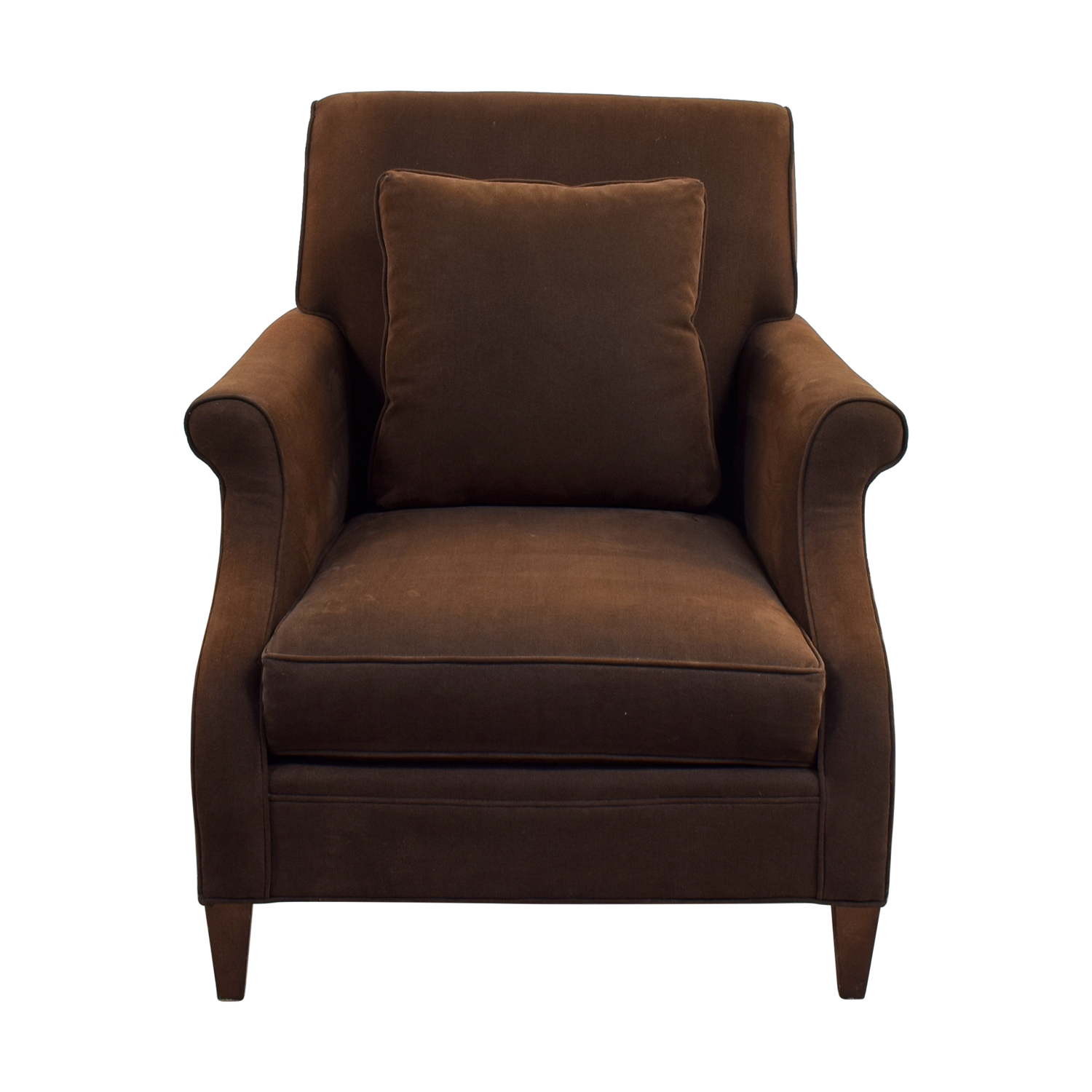 Mitchell Gold + Bob Williams Mitchell Gold + Bob Williams Deep Seated Brown Armchair nyc
