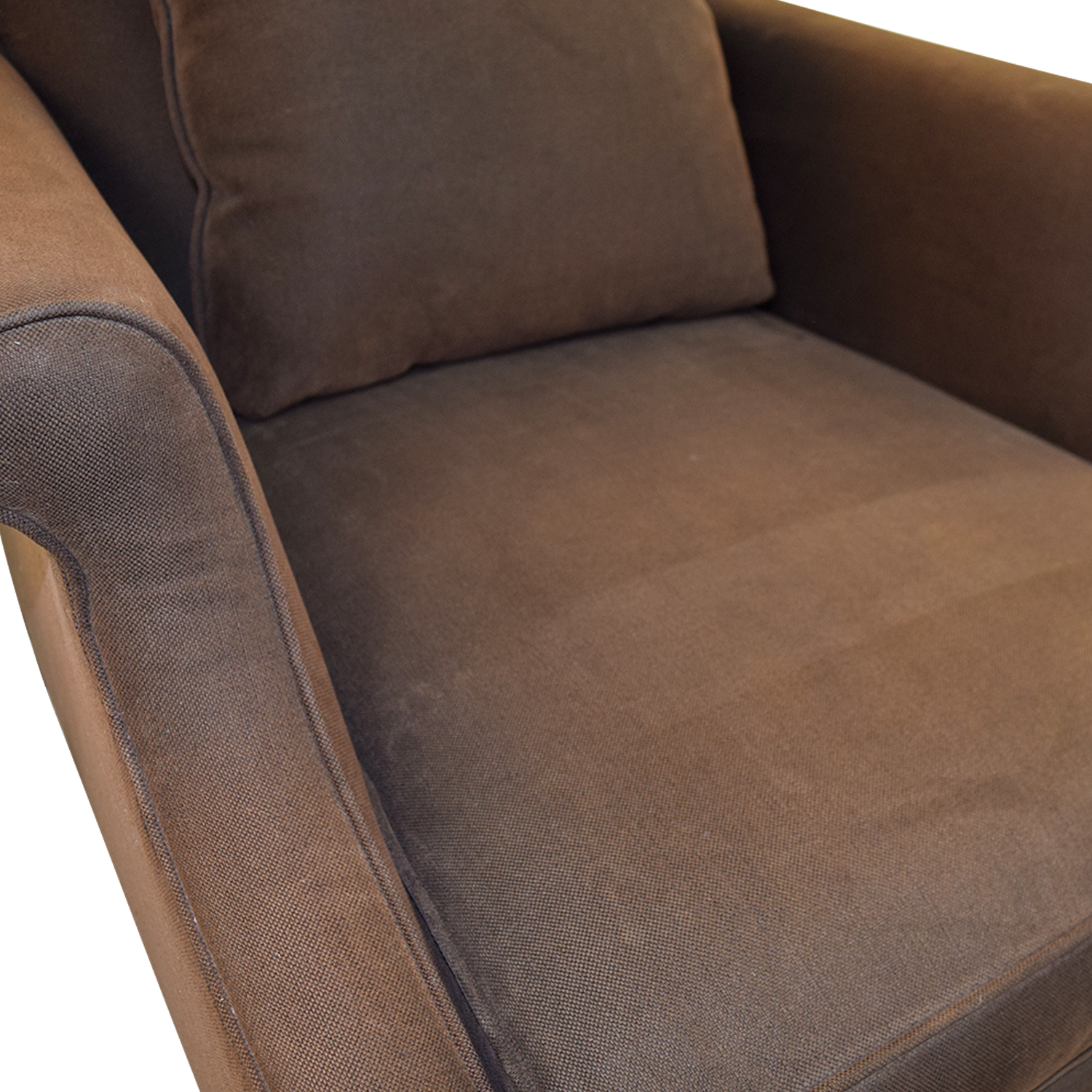 Mitchell Gold + Bob Williams Mitchell Gold + Bob Williams Deep Seated Brown Armchair BROWN