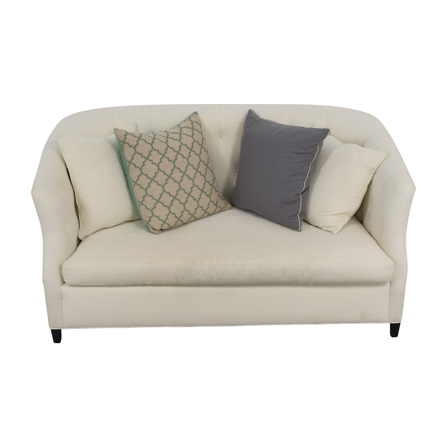 Safavieh Safavieh Tufted Off White Sette Sofa dimensions