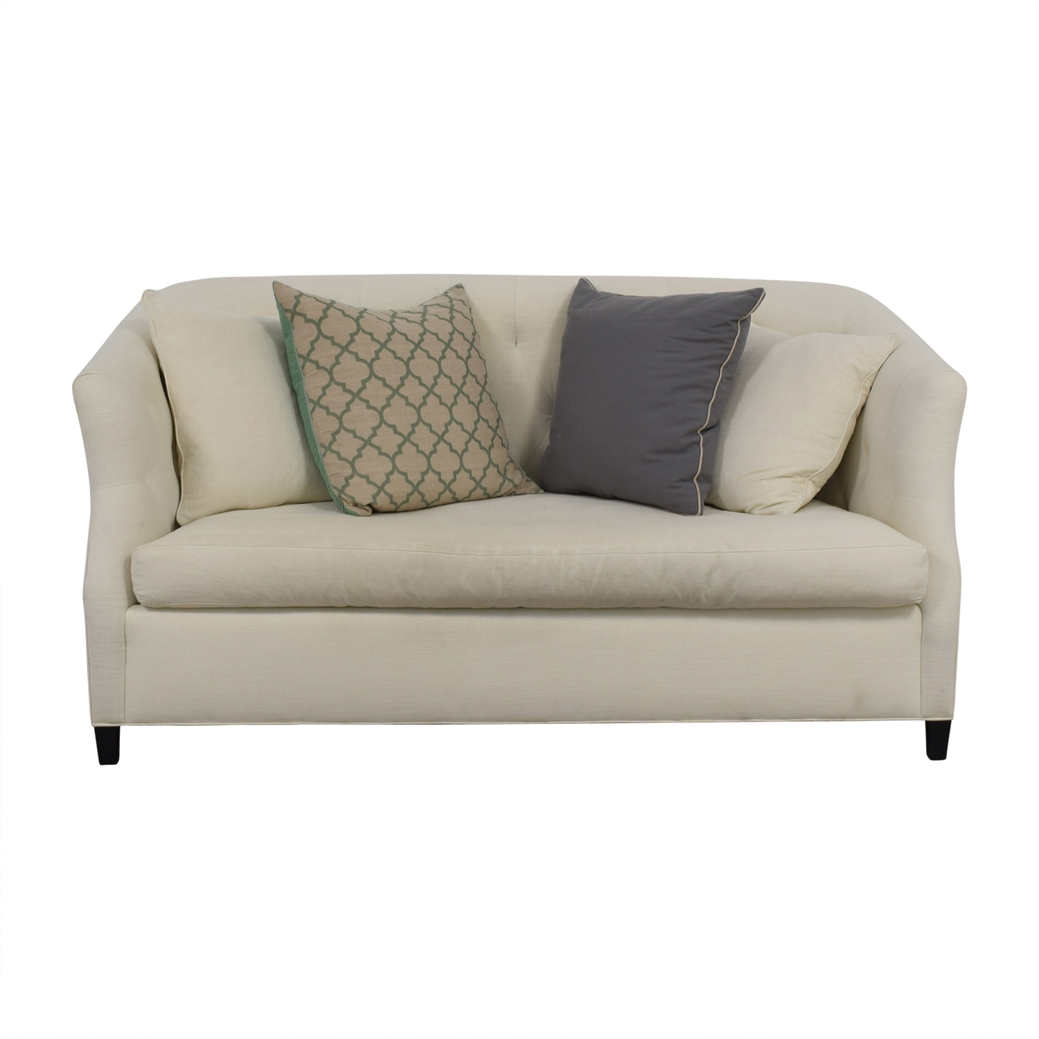 Safavieh Safavieh Tufted Off White Sette Sofa nj