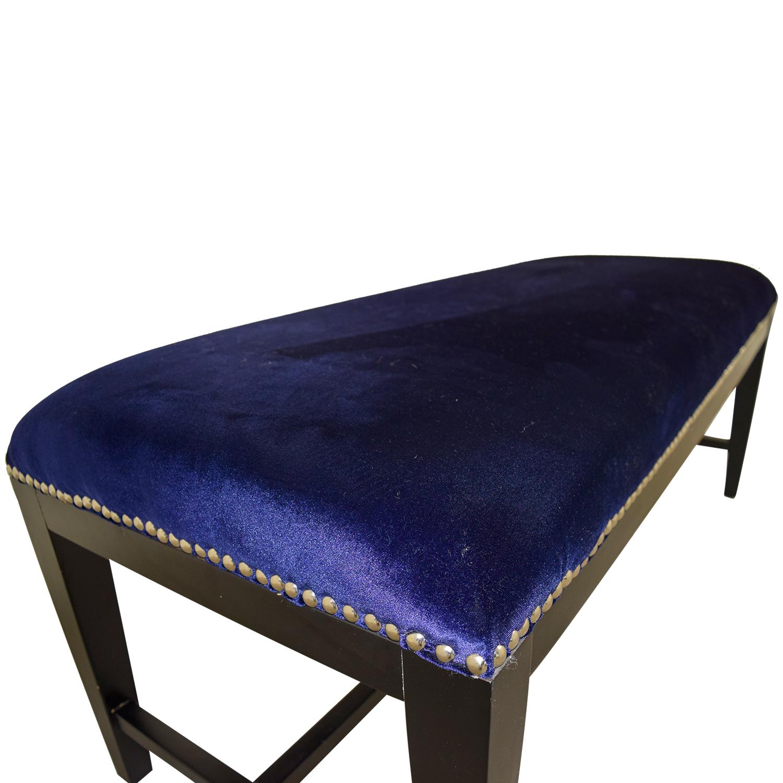 Safavieh Safavieh Blue Velvet Nailhead Bench discount