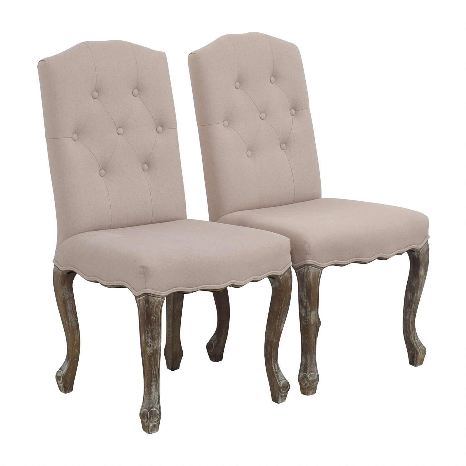 Safavieh Safavieh Tufted Beige Side Chairs PAIGE