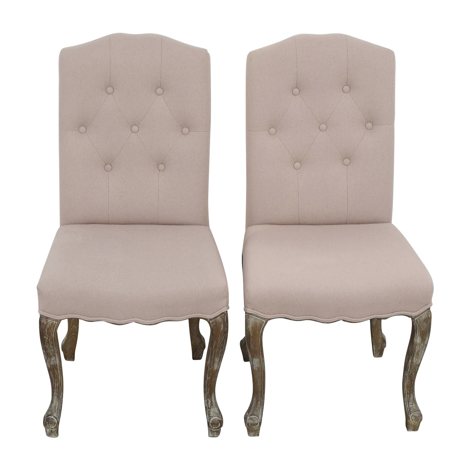 Safavieh Safavieh Tufted Beige Side Chairs dimensions